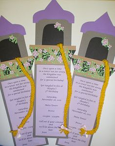 Tangled Birthday Invitations Princess Rapunzel Tangled birthday