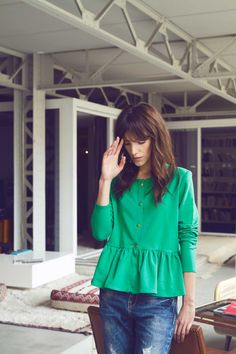 3a2f61d18dee6 Cardigan Marius vert Balzac Paris Robe Froncée, Boutique Vetement Femme,  Vêtements Verts, Gilet