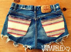 High Waist Denim Shorts Size Small by UnraveledClothing on Etsy