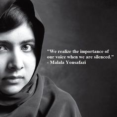 Malala Yousafazi, inspiring youngest winner of the Nobel Peace Prize. Purasentia… Malala Yousafazi, inspiring youngest winner of the Nobel Peace Great Quotes, Quotes To Live By, Inspirational Quotes, Awesome Quotes, Motivational, Nobel Peace Prize, Nobel Prize, The Garden Of Words, Malala Yousafzai