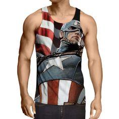 Captain America: 3D Printed Dank Captain America Tank Top