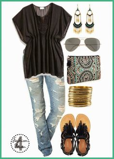 The Beaded Clutch - This has 'me' written all over it! I love this outfit for spring/summer!!! I love this site even more! She takes Pinterest outfits and finds budget friendly look alikes so I can actually buy them. (Because I could never afford $2500 for a purse!!)