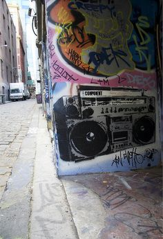 boom box grafitti heck ya