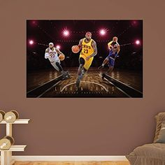 NBA Cleveland Cavaliers NBA LeBron James 2015-2016 Montage Realbig Mural, Real Big by Fathead Peel and Stick Decals. NBA Cleveland Cavaliers NBA LeBron James 2015-2016 Montage Realbig Mural, Real Big. Real Big.