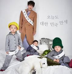 Song Il Gook and Song Triplets Have a Pajama Party in Pictorial for High Cut