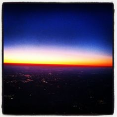 Sunrise from the plane somewhere over SC