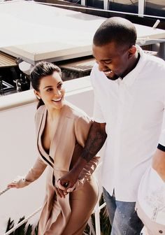 kim and kanye........shes superficial & hes a mental case.......they are perfect for each other!