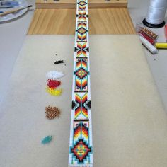 On the loom. #hatband #cowboy #western #tribal #native #cowgirl #rodeo #horses #country #cowboyhat