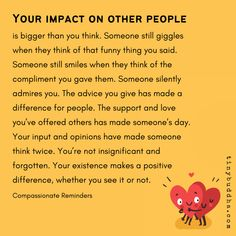Your Impact on Other People Is Bigger Than You Think - Tiny Buddha