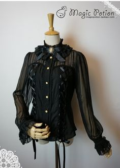Magic Potion - Garnet Blouse (wonder where I might be able to find a blouse with the same sheen striping...)