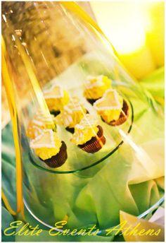 TRUE WEDDINGS | A Lemon Wedding by Elite Events Athens| Anca & Konstantinos | Wedding Tales - Ο γάμος των ονείρων σας! Wine Glass, Cupcakes, Tableware, Sweet, Wedding, Candy, Valentines Day Weddings, Cupcake Cakes, Dinnerware