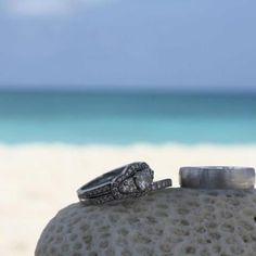 Honeymoon pic of our rings