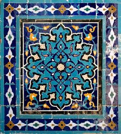 Islamic Tiles, Islamic Art, Pattern Art, Pattern Design, Arabesque Pattern, Art Ancien, Ap Studio Art, Islamic Patterns, Iranian Art