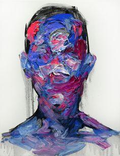 A complexidade das emoções humanas, normalmente estampadas na expressão facial, ficou aqui no espaço vazio, na silhueta, no sentimento, no sentir... Esta