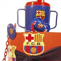 Tarta de Pañales F. C. Barcelona 1 - Las tarta de pañales para bebés más espectaculares y originales están en lacestamagica.com ¡Visita nuestra Web! canastillas par bebés - cestas para bebes - Regalos Originales y Mucho más...