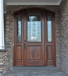 Wood Entry Doors With Sidelights Entry Door With