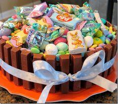 Easter Basket Kit Kat Cake, so cute! #easter