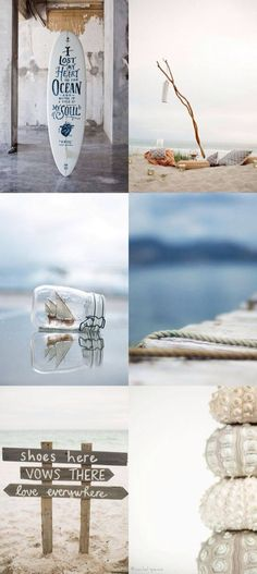 Moodboard: combination of photographic treatment to design Coastal Homes, Coastal Living, Coastal Decor, Beach House Style, Beach House Decor, Summer Decoration, I Love The Beach, Am Meer, Jolie Photo