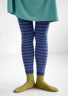 Striped cotton/polyamide leggings. – Accessories – GUDRUN SJÖDÉN – Webshop, mail order and boutiques   Colourful clothes and home textiles in natural materials.