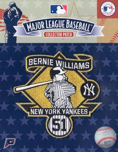 Bernie Williams #51 New York Yankees Retirement Sleeve Jersey Patch (2015)