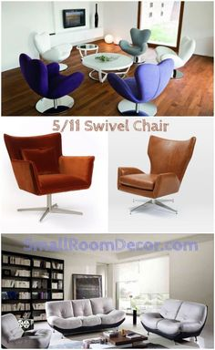 Mid-Century contemporary chairs are great decors suitable for any interior style. So let's take a look at all 11 possible types of accent chairs for living rooms. Wayfair Living Room Chairs, Accent Chairs For Living Room, Classic Living Room, Living Room Modern, Living Rooms, Contemporary Chairs, Chair And Ottoman, Chair Cushions, Vintage Chairs