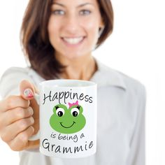 Gammie Mug - Happiness is being a Gammie - Gift Mug For Gammie by CaliKays on Etsy