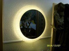 Spiegel Mit Beleuchtung Hillebrand ? 70er Acrylglas Bild