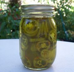 Vicki's Candied Sweet Jalapeno Peppers  Sugar Free/ These are so good.      1 (12 ounce) jar sliced jalapeno peppers   3/4 cup Splenda sugar substitute       Directions:  Pour the peppers, juice and all in a bowl.   Stir in Splenda.   Pack back into jar. Flip up 1 day and then down 1 day... do this process for 4 days in refrigerator. Then then enjoy and keep peppers refrigeratored.