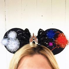Disney Inspired Fireworks Ears Disney Castle by ToNeverNeverland