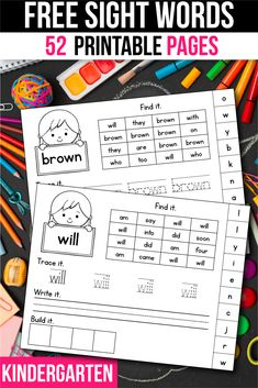 Primer kindergarten sight word worksheets. Practice sight words with your kindergarteners using these fun sight word worksheets! 1st Grade Activities, Sight Word Activities, Kindergarten Worksheets, Classroom Activities, Sight Word Practice, Sight Words, Teacher Resources, Teaching Ideas, Sight Word Worksheets