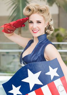 Captain America USO Girl #Cosplay from Stan Lee's Comikaze 2015