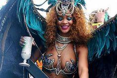 Rihanna Flaunts Curves During Barbados' Kadooment Day Parade