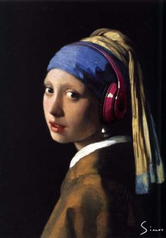 Girl with the pearl earring and Beats by Dre