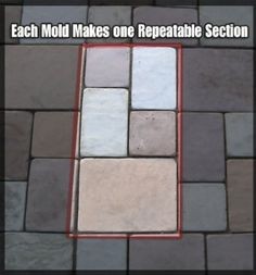 Amazon.com: 5 Piece Set Concrete Patio Paver Mold: Patio, Lawn U0026