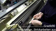 stricken mit strickmaschine - YouTube