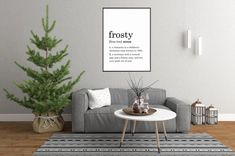 Excited to share this item from my #etsy shop: Frosty Definition Print // Printable Wall Art // Digital Instant Download