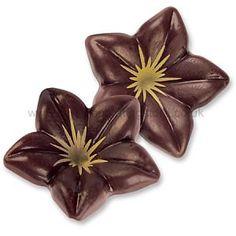 Luxury Dark Belgian Chocolate Lillies x 4