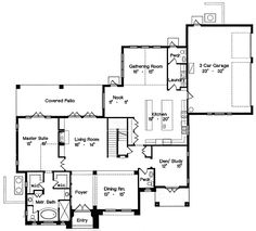 House Plan 64702 - Florida, Mediterranean Style House Plan with 4510 Sq Ft, 6 Bed, 6 Bath, 3 Car Garage Tuscan House Plans, Mediterranean House Plans, Mediterranean Architecture, Luxury House Plans, Mediterranean Style, House Floor Plans, Architectural Design House Plans, Architecture Design, Florida Style