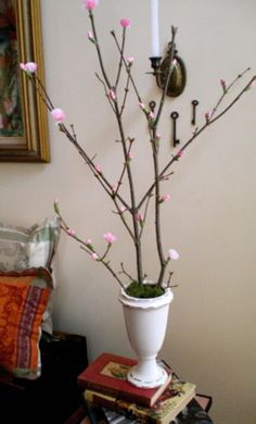 DIY - faux branch of cherry blossoms