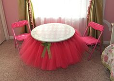 tutu table how to from sassy sanctuary blog:   http://www.sassysanctuary.com/2011/08/tutu-table.html