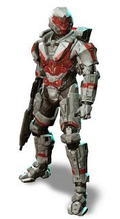 Concept art for Halo 4, including Decal Paintover for Spartan Armour for Multiplayer. (Richards, P., 2012)