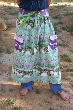 amazing gathering apron with tutorial