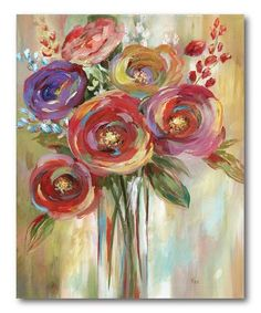 Another great find on #zulily! Spontaneous Blooms Wrapped Canvas #zulilyfinds