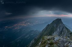 6 AM, view from the top of Giewont Mountain Science And Nature, Travel Inspiration, Wolf, Mountains, Landscape, Beauty, Photos, Poland, Scenery