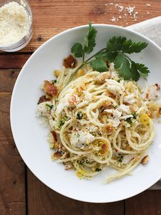 Simple yet elegant, this Crab Spaghetti is pure comfort food with a high brow touch—because who doesn't find comfort in twirling pasta around the big old clumps of sweetly lush lump crab. If there's one thing you want to eat in it's lumpiest form, it's crab. Take my word for it. Crab can sometimes feel a [...]