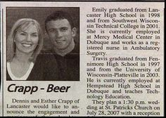 Wedding Announcements Newspaper.29 Best Funny Wedding Announcements Images Funny Wedding
