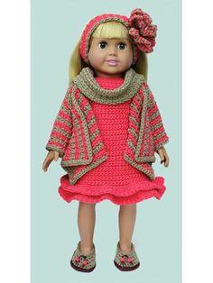 """Waterfall Wardrobe for 18"""" Doll Crochet Pattern"""