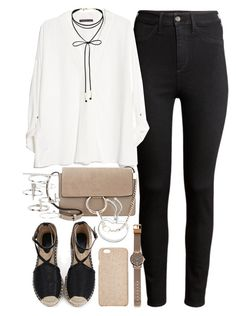 """Outfit for work"" by ferned on Polyvore featuring H&M, MANGO, Chloé, Topshop, Miss Selfridge, Diane Von Furstenberg, Witchery and Monica Vinader"