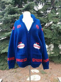 c4138c0296 Vintage Curling Zip Up Cardigan. Sports Sweater