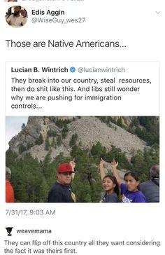 Ha! Fucking dumbshit pissed at Native Americans not appreciating that South Dakota eyesore on their sacred land.